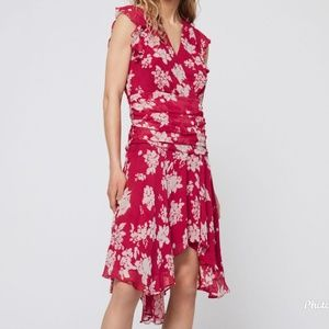 AllSaints Caris Lea Dress Hot Pink